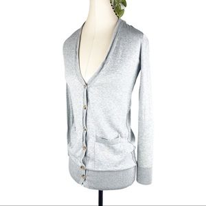 BP Light Gray Knit Button Up Cardigan Sweater